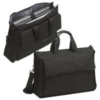 "17"" Laptop Portfolio Bag w/ Padded Section & Organizer - Black"