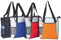 Zippered Tote Bag w/ Mesh Water Bottle Pocket - Kaleidoscope