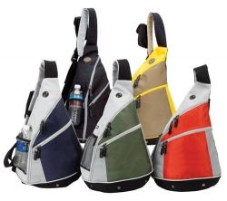 Sling Backpack w/ Audio Pocket - Headphone Port - Polyester