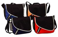 Messenger Bag w/ Mesh Water Bottle Pocket - 600D Polyester