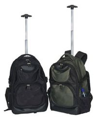 Rolling Laptop Backpack w/ Double Compartments - Concord