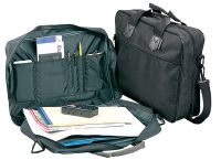 Briefcase w/ Full Size Divider & Open Pockets - Polyester