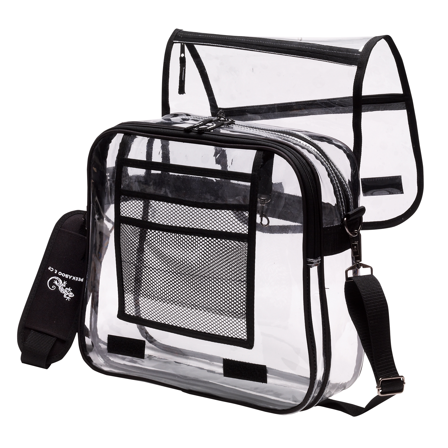 Clear Messenger Bag W 2 Compartments