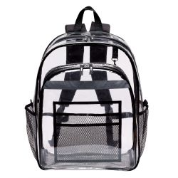 Clear Backpack w/ Large Main Compartment - Vinyl - Peekaboo & Co