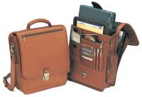 Leather Laptop Briefcase w/ Accordion File - The Reporter