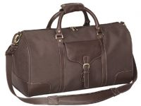 Leather Duffle Bag w/ Lined Interior - 21 Inch - Vintage Voyager