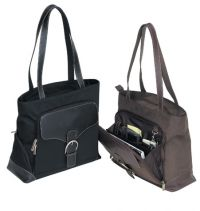 Leather Tote Bag w/ Organizer - Fully Lined - Rendezvous