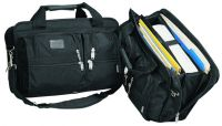 Briefcase w/ 3 Dividers & Zippered Pockets - 1680D Nylon