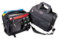 Laptop Briefcase w/ Accordion File & Pockets - Expandable