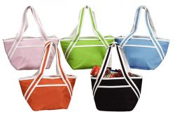 Insulated Tote Bag w/ Zippered Closure - 600D Polyester