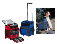 Rolling Cooler w/ Four Picnic Settings - 600D Polyester