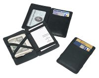 Men's Magic Wallet w/ Clear ID Pocket & Card Slots - Leather