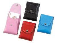 Playing Card Case w/ Snap Closure - Colored Leather