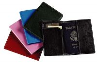 Leather Passport Cover - Two Slip Pockets