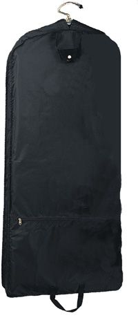 "48"" Garment Bag w/ Two Heavy Duty Hangers - 210D Nylon"
