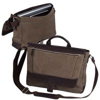 Canvas Laptop Messenger Bag w/ Organizer - Bellino Autumn