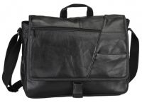 "Leather Laptop Messenger Bag w/ 15.4"" Sleeve - Bellino"