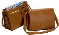 Leather Laptop Messenger Bag w/ Pockets - Bellino Cancun