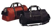 Leather Duffle Bag w/ Multiple Pockets - Bellino Italian