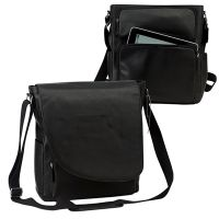 Leather Messenger Bag w/ iPad / Tablet Pocket - Bellino Max