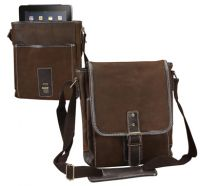 Leather Messenger Bag w/ iPad / Netbook Sleeve - Bellino
