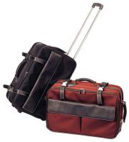 Leather Rolling Luggage w/ Pockets - Bellino South American