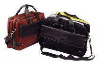 Leather Laptop Briefcase w/ Compartments - Bellino Continental