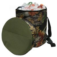 Camo Barrel Cooler w/ Padded Top Cover - Collapsible