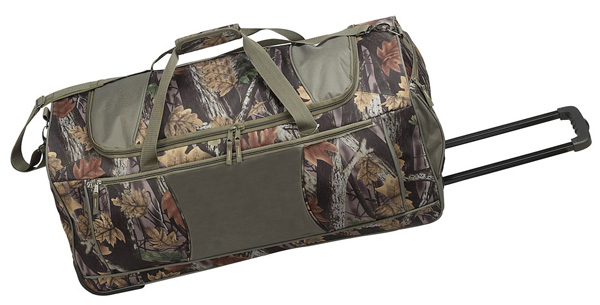 Rolling Camo Duffle Bag W Multiple Pockets Amp Recess Wheels