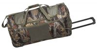 Rolling Camo Duffle Bag w/ Multiple Pockets & Recess Wheels