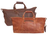 Leather Duffle Bag w/ Zip Pocket - Canyon Outback Little River