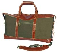 Canvas Duffle Bag w/ Leather Trim - Canyon Outback Pine