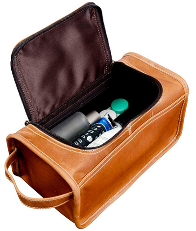 Leather Toiletry Kit W Handle Canyon Outback Taylor Falls