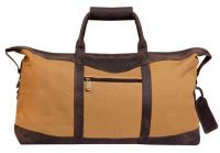 Canvas Duffle Bag w/ Leather Trim - Canyon Outback Utah