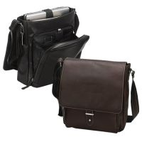 "Leather Laptop Messenger Bag w/ 12.5"" Sleeve - Columbia"