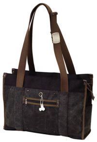 "16 oz. Cotton Canvas Laptop Tote Bag – 17"" Sleeve – Impact"