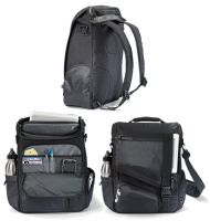 "Laptop Messenger Bag w/ 15.4"" Padded Sleeve - Life in Motion"