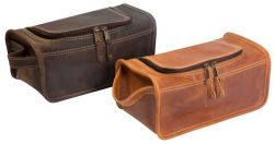 Leather Toiletry Kit w/ Handle - Canyon Outback Taylor Falls