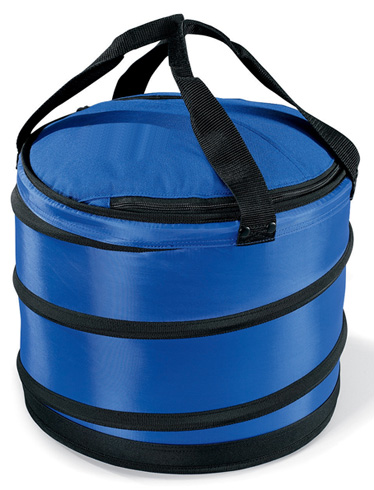 Barrel Cooler W Zippered Opening Collapsible Polyester