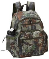 Camo Laptop Backpack w/ Padded Tablet Pocket - Polyester