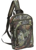 Camo Sling Backpack w/ Tablet Sleeve & Multiple Pockets