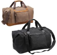 Canvas Duffle Bag w/ Faux Leather Trim - Tahoe