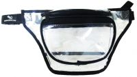 Clear Fanny Pack w/ 3 Pockets & Waist Strap - Vinyl - Peekaboo & Co