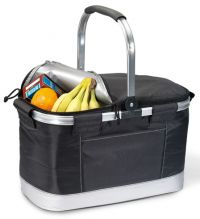 Collapsible Basket Cooler w/ Aluminum Frame - Soft Sided