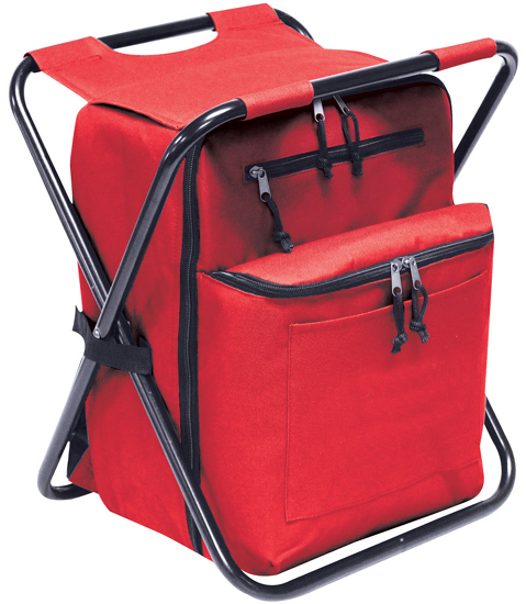 Combo Chair Ii: Cooler Chair & Backpack Combo W/ Padded Tablet Sleeve