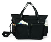 Diaper Tote Bag - Front Zip & Side Mesh Pockets - Peekaboo