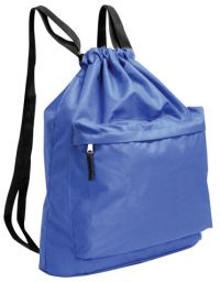 Drawstring Backpack w/ Thick Webbed Straps - Polyester