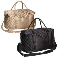 Duffle Bag w/ Wide Opening - Quilted Satin - Savvy