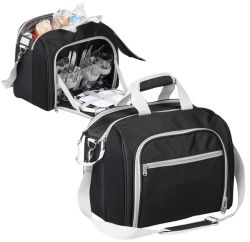 4 Setting Picnic Cooler w/ Removable Clear Liner - Polyester
