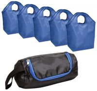 Grocery Tote Bag w/ Carry Case - Set of 5 - Polyester